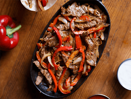 Imagine cu Fajitas din steak de vita
