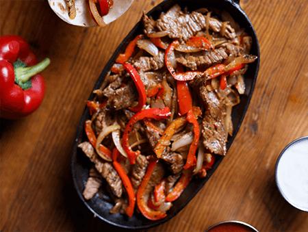 Imagine cu Fajitas din steak de vita