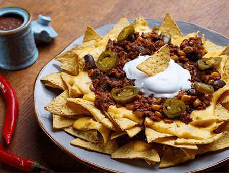 Imagine cu Nachos con Carne