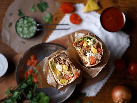 Imagine cu Burrito Al Pastor de la Pokka