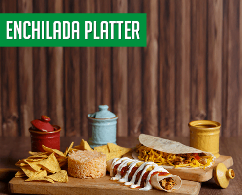 Imagine cu Enchilada Platter de la Pokka.