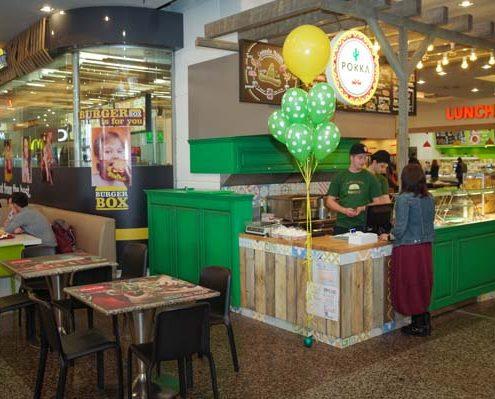 Imagine de la standul Pokka din Foodcourt Iulius Mall.