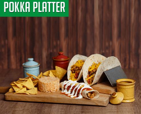 Imagine cu platoul Pokka Platter.