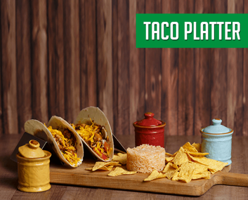 Imagine cu platoul Taco Platter Pokka.