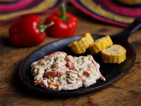 Imagine cu salată de ardei copt cu smântână