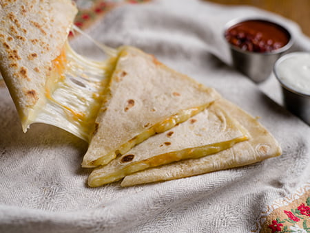 Imagine cu cheese quesadilla