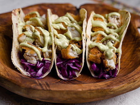Imagine cu Fish Tacos